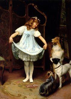 The New Dress-Arthur John Elsley (1860 – 1952, English)