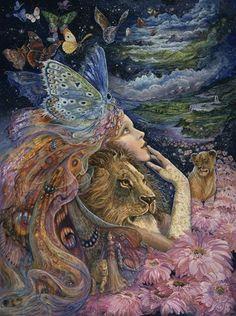 Buffalo Games - Josephine Wall - Heart and Soul - Glitter Edition - 1000 Piece Jigsaw Puzzle Josephine Wall, Illustrations, Illustration Art, Spirited Art, Goddess Art, Soul Art, Visionary Art, Fairy Art, Surreal Art
