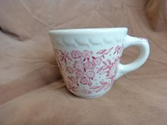 Syracuse China Restaurant Ware Cup Red Roxbury USA by GrandmothersTable on Etsy Syracuse China, Restaurant, Dishes, Mugs, Dining, Retro, Antiques, Unique Jewelry, Handmade Gifts