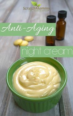 Anti-Aging Night Cream DIY Recipe (easy and effective with some super powerful secret ingredients)!- Scratch Mommy Anti-Aging Night Cream DIY Recipe (easy and effective with some super powerful secret ingredients)! Anti Aging Creme, Creme Anti Age, Anti Aging Night Cream, Anti Aging Tips, Anti Aging Skin Care, Aging Cream, Anti Aging Facial, Homemade Skin Care, Homemade Beauty Products