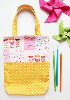 Stoffbeutel - Kinderbeutel   Stoffbeutel Feen XXL - ein Designerstück von naehfein-berlin bei DaWanda #kinderbeutel #fee #maedchengeschenk #geschenk #kindergarten