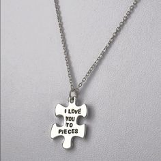 I love you to pieces-necklace New necklace. Alloy material Jewelry Necklaces