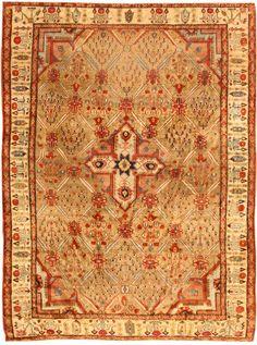 Antique Silk Heriz Serapi Persian Rugs 40829 Detail/Large View - By Nazmiyal >> extremely rare design...Fantastic work!