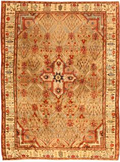 Antique Silk Heriz Serapi Persian Rugs 40829 Detail/Large View - By Nazmiyal >> extremely rare design...Fantastic work!