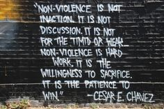 Quote on nonviolence by Cesar Chavez