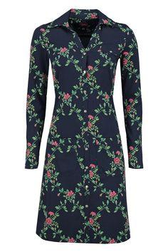 Dress Snappie Flower Branch Navy