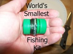 While there may be fishing kits even smaller, this one takes all of maybe 15 minutes to assemble, using materials you likely have in your home already.