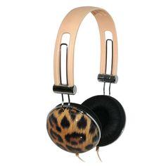 iHip Headphones In Leopard Print