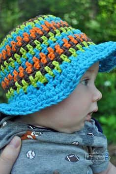 Free Crochet Pattern for a Sun Hat for Babies to age 3 years
