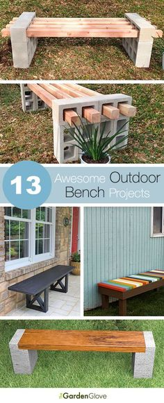 13 Awesome Outdoor Bench Projects, Ideas Tutorials! http://appsforbuilders.com/
