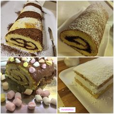 Ricetta rotolo di pasta biscotto ~ Blog ifornellidirosa Cookers, Marshmallow, Biscotti, Tiramisu, Cheesecake, Pasta, Ethnic Recipes, Blog, Cheesecakes
