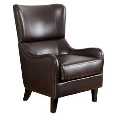 Elijah Bonded Leather Sofa Chair Brown - Christopher Knight Home