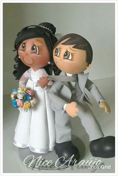Foam Crafts, Diy And Crafts, Arts And Crafts, Wedding Cake Toppers, Wedding Cakes, Cute Eyes, Lalaloopsy, New Hobbies, Paper Quilling
