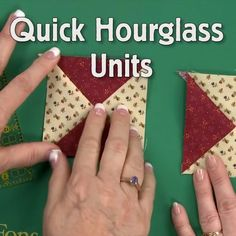 The Fons & Porter staff show you how to make quick hourglass units in this quick and simple video. This surprising method of making quick hourglass units is more accurate than cutting half-square triangles. You'll love how efficient this is! https://video.buffer.com/v/5ad8e94a3146d16866017284