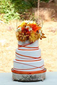 Orange Wedding Cake by Slice - love this girl's cakes!!