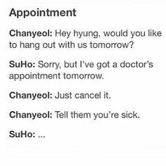 LOLOL ♡ exo chanyeol and suho ♡ Chanyeol Baekhyun, Park Chanyeol, Kpop Exo, Exo K, Kim Minseok, Xiuchen, Exo Memes, Kdrama Memes, Chanbaek