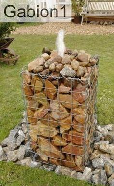 gabion garden water fountain idea http://www.gabion1.co.uk