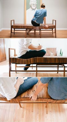 Sitskie Design Studio has developed a series of responsive, wooden furniture that shifts to the shape of your body for extreme comfort.