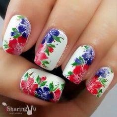 #Video #Floral #nails #manicure Por: @sharingvu Canción: capullitode aleli