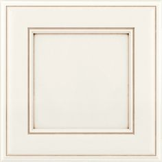 KraftMaid Hartwell 15-in x 15-in Dove White and Cocoa Glaze Maple Square Cabinet Sample