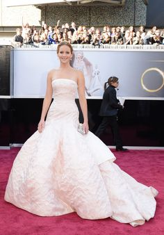Jennifer Lawrence in Dior at the Oscars.