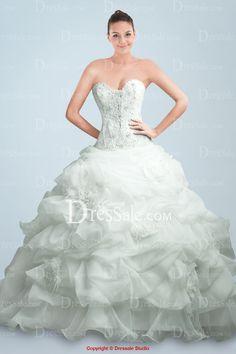 Glorious Ball Gown Organza Bubble Wedding Apparel $238.99