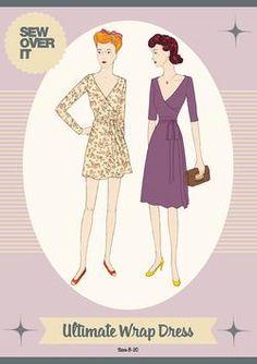 Sew Over It Ultimate Wrap Dress - Buy Paper Pattern at www.cottonreelstudio.co.uk