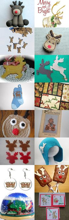 Here come the Reindeer! by Terri on Etsy--Pinned with TreasuryPin.com