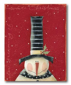 Take a look at this 'White Christmas' Canvas by COURTSIDE MARKET on #zulily today!