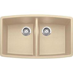 Blanco - Silgranit, Natural Granite Composite Undermount Kitchen Sink, Biscotti - SOP1312 - Home Depot Canada