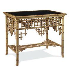 Ralph Lauren gold faux bamboo table
