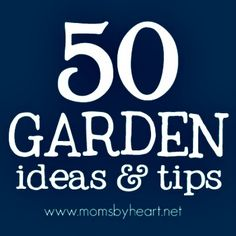 50 Gardening Ideas & Tips     http://diyhomesweethome.com/50-gardening-ideas-tips/