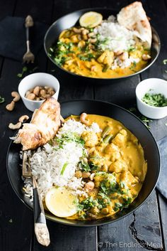 This easy to make Creamy Coconut Vegetarian Korma makes a great go-to Meatless Monday meal. It's naturally paleo, gluten-free and can easily be made vegan.