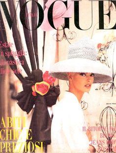 VOGUE ITALIA - MAY 1991 COVER MODEL - LINDA EVANGELISTA