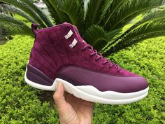 "7fe30ece9158aa 2017 Air Jordan 12 ""Bordeaux"" Bordeaux Sail-Metallic Silver For Sale Online"