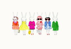 Fifi Lapin: colour blocking