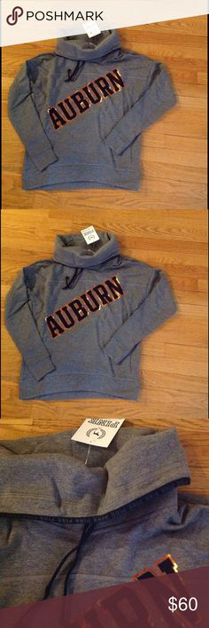 NEW Auburn Funnel Neck Pullover VS New with tags!  Victoria secret funnel neck pullover: Cozy fit with a soft, slouchy neckline..this pullover is made for snuggling up and keeping warm on game day.  From the Victoria's Secret PINK Collegiate Collection.  Relaxed fit Drawstring cowl neck Print graphics Cozy, supersoft fleece Imported cotton/polyester PINK Victoria's Secret Tops Sweatshirts & Hoodies
