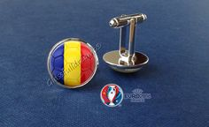France 2016 Euro Cup Romania Group A  Cufflinks by Glassfulldreams