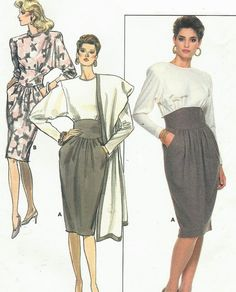 80s Ronnie Heller Butterick Sewing Pattern 5871 by CloesCloset