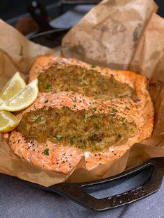 Salmon Recipes, Fish Recipes, Seafood Recipes, Quick Recipes, New Recipes, Healthy Recipes, Holiday Recipes, Oreo Dessert, Crab Stuffed Salmon