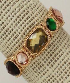 Multi Colored Crystal Stone Bracelet