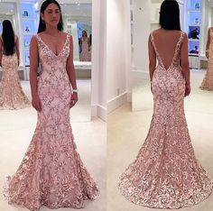 Charming Prom Dress,Mermaid Prom Dress,Long Prom Dresses,Blush Pink