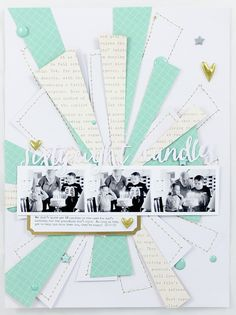 #Papercraft #scrapbook #layout. sixty eight candles by emma_kw at @studio_calico