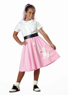 vestidos de los años 60 rock and roll infantil - Buscar con Google Poodle  Skirt Halloween daeed2fbf46