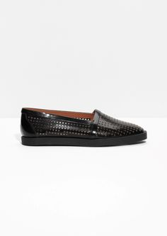& Other Stories Perforated Leather Flats
