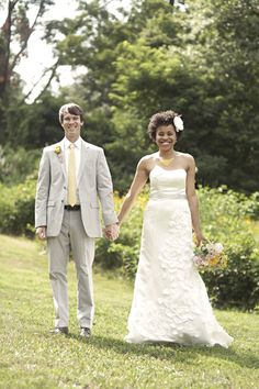 Amanda & Brett. love Interracial weddings