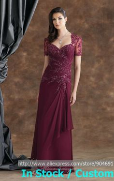 mother of the bride gowns in wine color | 110931-silk-chiffon-dress-by-mon-cheri-montagealt1.jpg