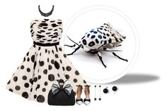 """""""The Insect Ball"""" by lovetodrinktea ❤ liked on Polyvore featuring GUESS, Givenchy, Miss KG, Bee Goddess and LOGO by Lori Goldstein"""