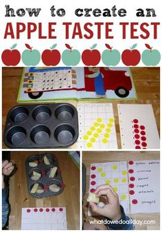 Fun for fall! Create an apple taste test station for kids