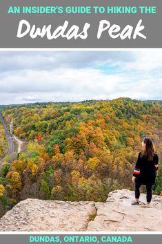 An Insider's Guide to Hiking the Dundas Peak & Tews Falls - Dundas Ontario Canada Food Canada, Canada Vancouver, Hamilton Ontario Canada, Canadian Travel, Canadian Rockies, Travel Guides, Travel Tips, Travel Articles, Travel Advice